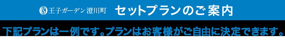 王子ガーデン澄川町 セットプランのご案内 下記プランは一例です。プランはお客様がご自由に決定できます。